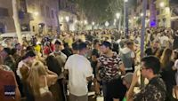 Police Disperse Revelers on Barcelona Streets Over Covid Restrictions
