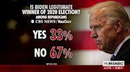 Most Republicans don't believe Biden legitimate 2020 winner: polling