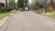 Crews Clear Debris After Destructive Tornado in Pelham, Alabama