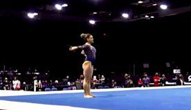 Gymnast Laurie Hernandez rocks Captain Marvel leotard