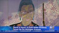 Ruth Bader Ginsburg Mural Goes Up On Michigan Avenue