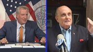 De Blasio, Giuliani clash over whether to hire more police officers