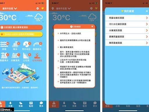臺南水情即時通App全新改版上線操作簡單更輕鬆上手