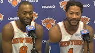 Kemba Walker, Derrick Rose on playing together, contending for championship | Knicks News Conference
