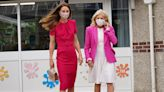 Jill Biden and Kate Middleton coordinated in pink outfits for their first meeting