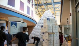 Michigan high schoolers use over 27,000 toilet paper rolls to build 16-foot pyramid
