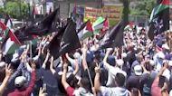 Palestinians protest on Nakba Day