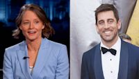 Jodie Foster will 'absolutely' give Aaron Rodgers a shoutout if she wins Golden Globe