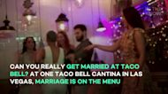 Can you really get married at Taco Bell? At one Taco Bell Cantina in Las Vegas, marriage i