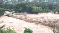 Storm Eta Flooding Breaches River Bridge in Eastern Guatemala