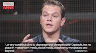 "Matt Damon Clarifies ""F-Slur"" Comments and Stands With LGBTQ+ Community   THR News"