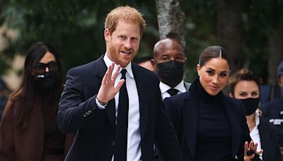 Meghan Markle and Prince Harry Match in Black to Visit One World Observatory
