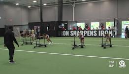 Lacrosse athletes training early and often