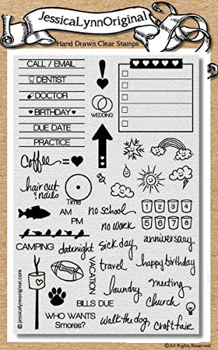 ... - JessicaLynnOriginal Calendar & Planner Clear Rubber Stamp Set