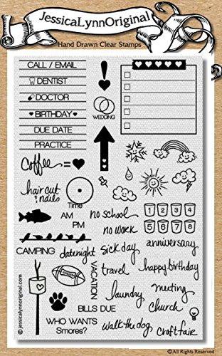 ... - JessicaLynnOriginal Calendar & Planner Clear Rubber Stamp Set