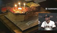 Steak cake? Giants players give manager unique birthday dessert