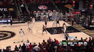 Bryn Forbes with a 3-pointer vs the Atlanta Hawks