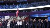 Sue Bird, Eddie Alvarez Carry American Flag and Lead Team USA in Opening Ceremony Parade of Nations