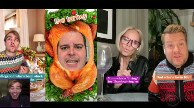 James Corden's Thanksgiving TikTok musical is filled with surprise cameos