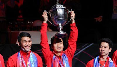 羽毛球|三蛋贈中國 印尼稱霸湯姆斯盃