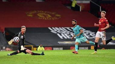 英超-B費拉什福德進球 薩拉赫破門 曼聯2-4利物浦