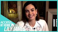 Does Lily James Think She Relates To 'Rebecca' Character Being Under Scrutiny?
