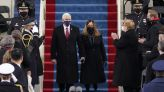 Karen Pence Bids Farewell as Second Lady in a Navy Dress With Rounded-Toe Pumps on Inauguration Day