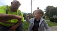 After moving to new neighborhood, boy finds new friend in sanitation worker