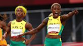 Elaine Thompson-Herah defends 100m title in Olympic record time as Jamaica sweep podium