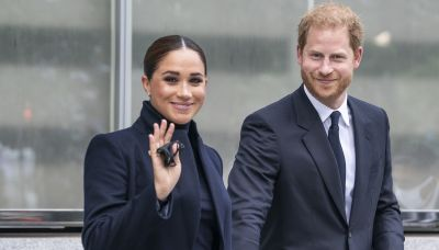 Prince Harry's briefcase has a sweet little nod to Archie on it