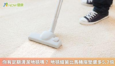 你有定期清潔地毯嗎? 地毯細菌比馬桶座墊還多5.7倍