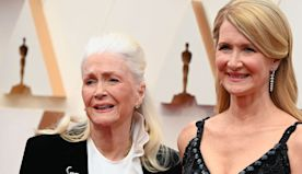 Laura Dern brought her mom to tears when she thanked her 'hero' parents in emotional Oscars acceptance speech for 'Marriage Story'