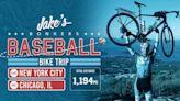 Jake Mintz cruising along on baseball bike trip from NYC to Chicago