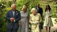 Queen Elizabeth II hosts G-7 leaders, spouses