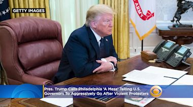 President Donald Trump Calls Philadelphia 'A Mess' While Telling US Governors To Aggressively Go After Violent Protesters
