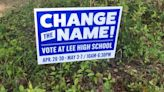 Signs supporting new name for Lee High popping up in surrounding neighborhoods