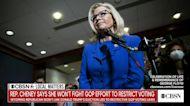 Representative Liz Cheney says she won't fight GOP efforts to restrict voting