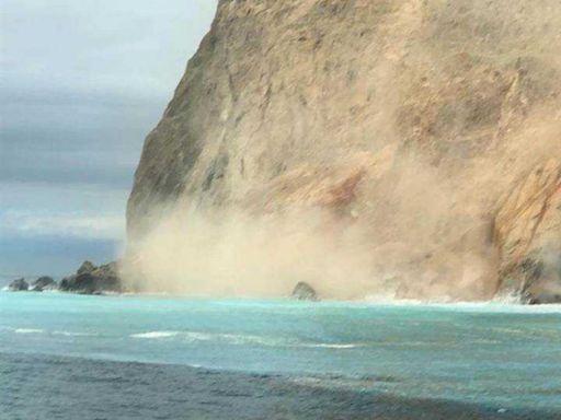 龜山島「龜首一口氣崩塌」 賞鯨遊客直擊驚呼