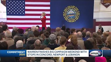 Warren finishes big campaign weekend with stops in Concord, Newport and Lebanon