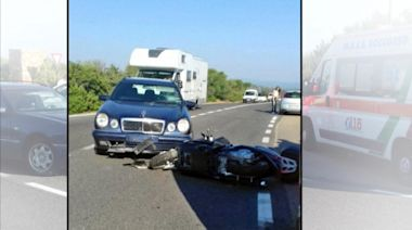 Video captures George Clooney's motorcycle collision