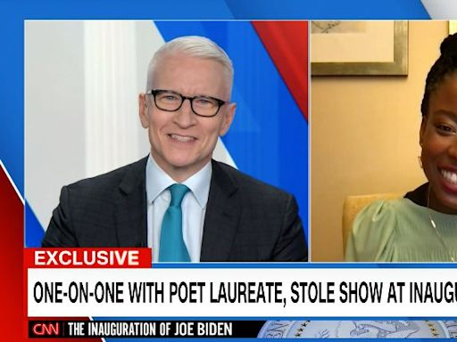 Anderson Cooper Left Speechless In Interview With Amanda Gorman