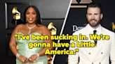 """Lizzo Pretending That She And Chris Evans Are Having A """"Little America"""" Is The Laugh I Needed Today"""