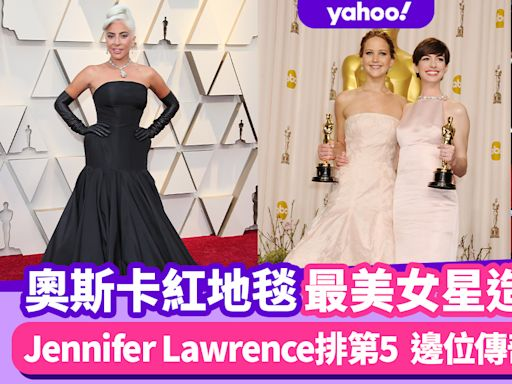 奧斯卡2021 奧斯卡紅地毯最美女星造型排行榜!Jennifer Lawrence紅色戰衣、Lady Gaga全黑晚裝
