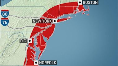 Severe storms to take aim at the East Coast