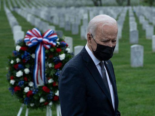 Joe Biden Tearfully Remembers Son Beau During Visit to Veterans' Cemetery