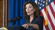 Kathy Hochul gives first press briefing amid Cuomo sexual harassment scandal