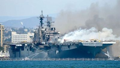 Navy sailor charged with setting blaze that destroyed billion-dollar ship last year