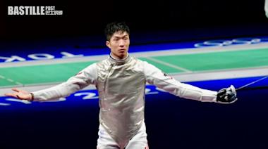 東奧劍擊張家朗八點十分出戰男花決賽 對手加羅素為去屆奧運冠軍   體育
