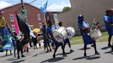 Drummers lead children's parades through West Philadelphia