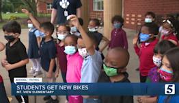 School Patrol: Mt. View Elementary School students get new bikes